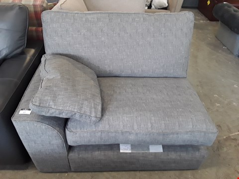 Lot 57 DESIGNER GREY FABRIC SOFA SECTION
