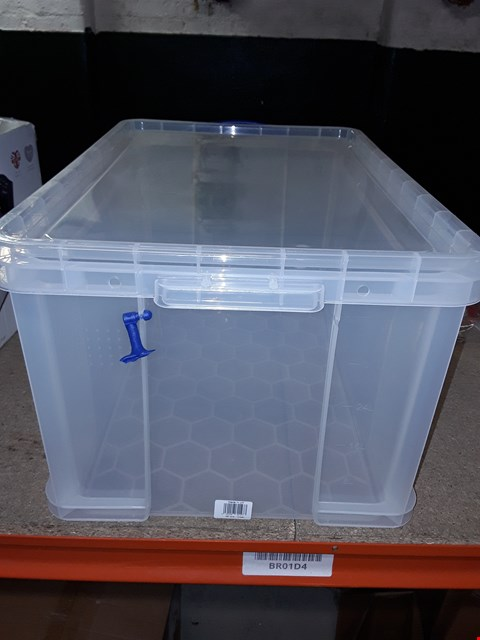 Lot 10468 REALLY USEFUL STORAGE BOX, 48 LITRE, CLEAR