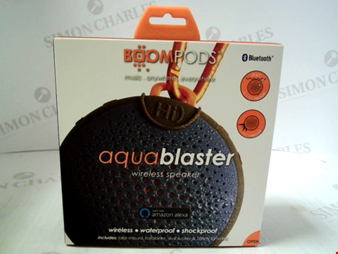 Lot 392 BRAND NEW BOOMPODS AQUA BLASTER WIRELESS SPEAKER