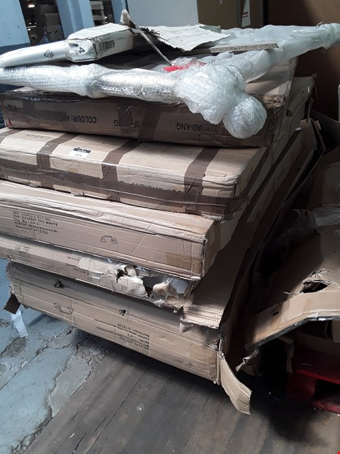 Lot 7076 PALLET OF ASSORTED BOXED BEDFRAME PARTS