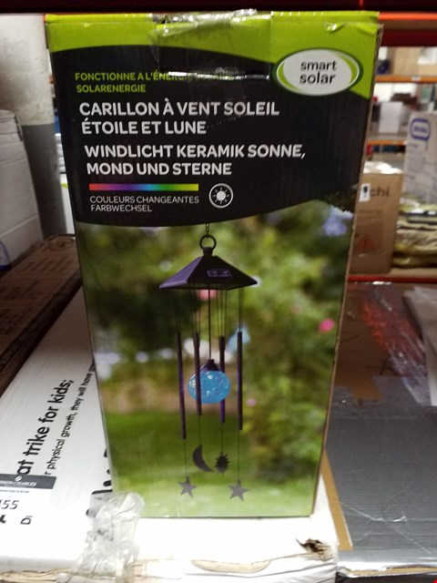 Lot 444 BOXED SMART SOLAR SUN MOON STAR WIND CHIME RRP £16