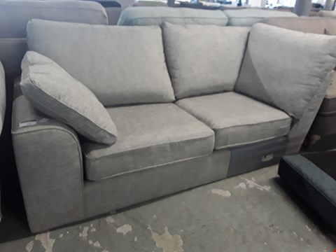 Lot 112 NANTUCKETT GREY FABRIC TWO SEATER SECTION