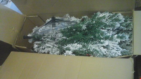Lot 470 BOXED BAVARIAN PINE TREE WITH SNOW RRP £180.00