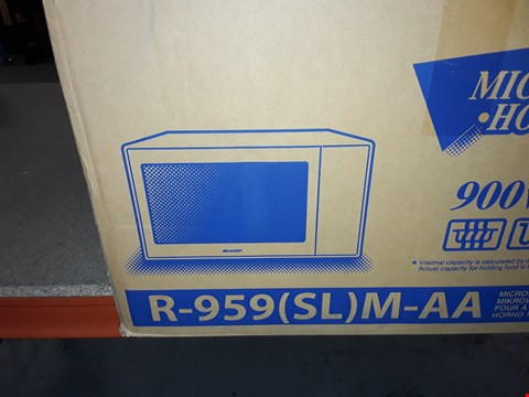 Lot 12693 SHARP 900W 40L R-959(SL)M-AA MICROWAVE OVEN WITH GRILL AND CONVECTION
