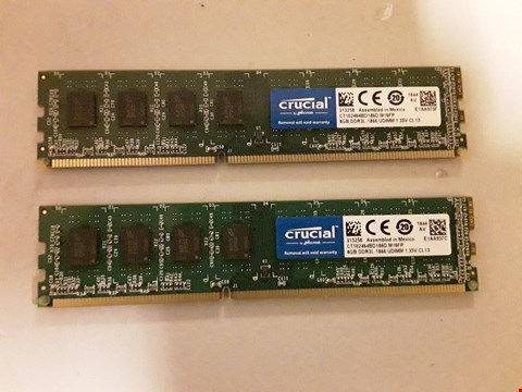 Lot 453 CRUCIAL 2 X 8GB DDR3 RAM
