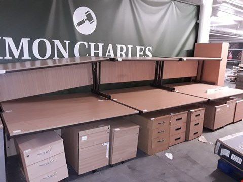Lot 779 LOT OF 20 ASSORTED OFFICE FURNITURE ITEMS INCLUDES 10 DESKS, 9 DRAWERED CABINETS AND 1 BOOKCASE