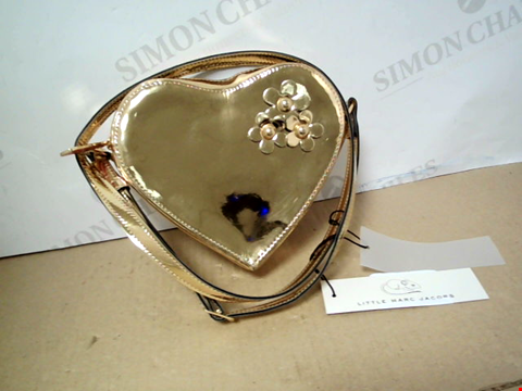Lot 7097 LITTLE MARC JACOBS KIDS GIRLS GOLD HEART SHOULDER BAG