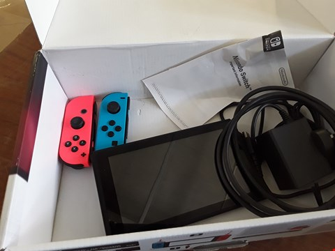 Lot 20 BOXED NINTENDO SWITCH NEON RED/BLUE CONSOLE RRP £419.99