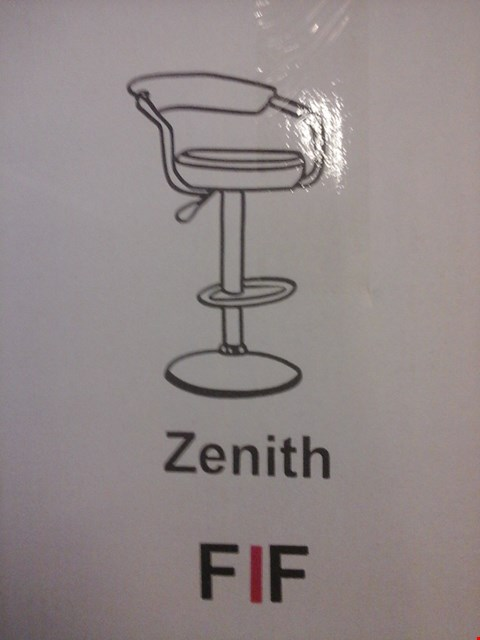 Lot 6025 FURNITURE IN FASHION 2 ZENITH GAS BAR STOOLS IN BLACK ( 1 BOX )