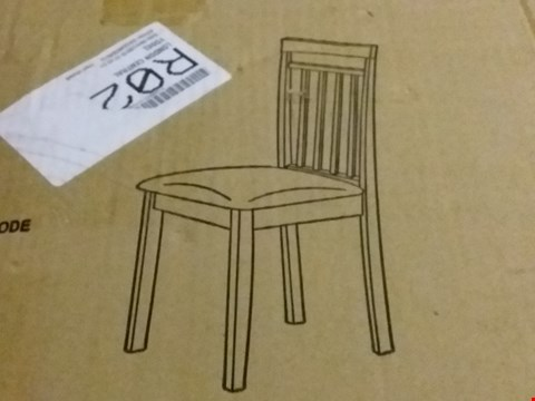 Lot 127 PAIR OF COAST SOLID WOOD DINING CHAIRS (1 BOX)