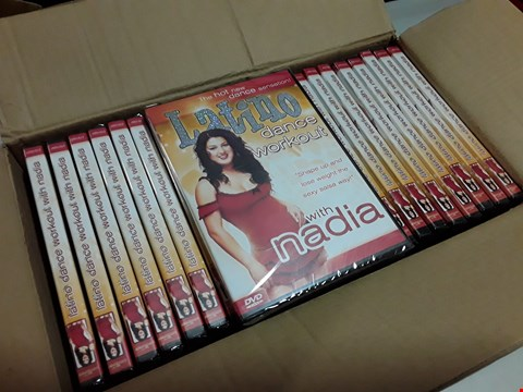Lot 315 LOT OF 24 LATINO DANCE WORKOUT WITH NADIA EXERCISE DVDS
