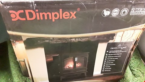 Lot 1 DIMPLEX GRAND NOIR ELECTRIC STOVE HEATER WITH 3D OPTI-MYST FLAME EFFECT RRP £625