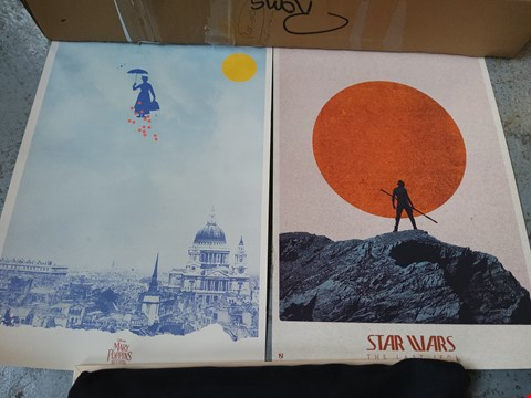 Lot 14019 STAR WARS THE LAST JEDI AND MARY POPPINS RETURNS PRINTS
