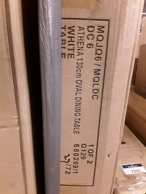 Lot 7315 BOXED ATHENA 130CM OVAL DINING TABLE (BOX 1OF2 ONLY - TABLE)