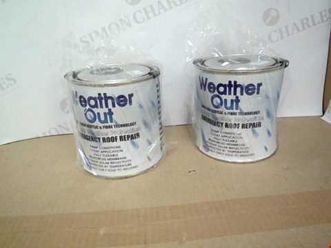 Lot 10409 SET OF 2 TINS OF WEATHER OUT ROOF REPAIR