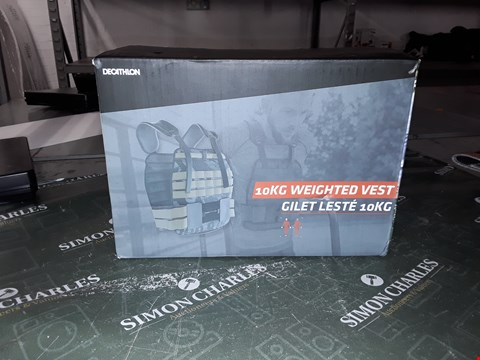 Lot 1090 DECATHLON 10KG WEIGHTED VEST