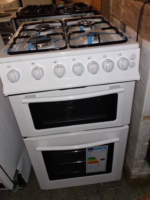 Lot 51 SWAN SX2071W 50CM WIDE FREESTANDING TWIN CAVITY GAS COOKER - WHITE