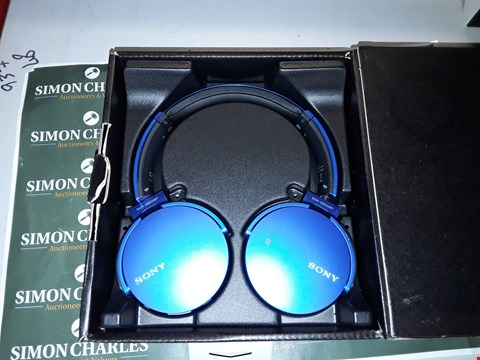 Lot 247 SONY EXTRA BASS MDR-XB650BT WIRELESS STEREO HEADSET