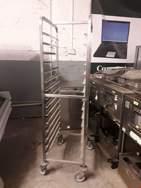 Lot 43 15 TRAY MOBILE SHELF TROLLEY
