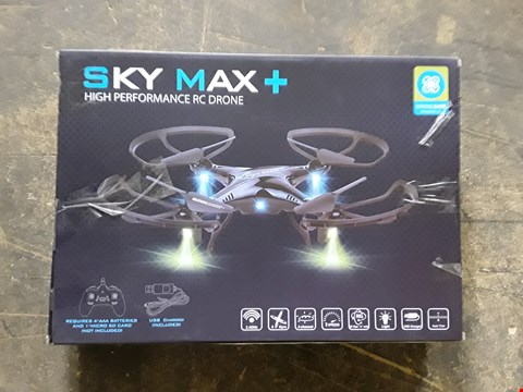 Lot 898 BOXED SKY MAX PLUS DRONE WITH STORAGE BAG