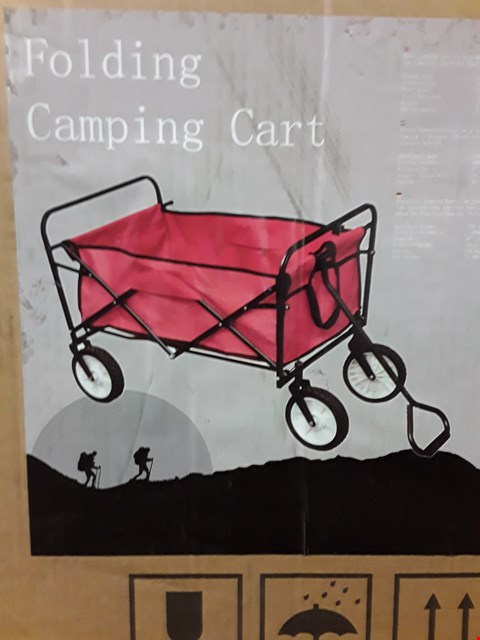 Lot 3278 BRAND NEW BOXED FOLDING CAMPING CART RED RRP £100.00