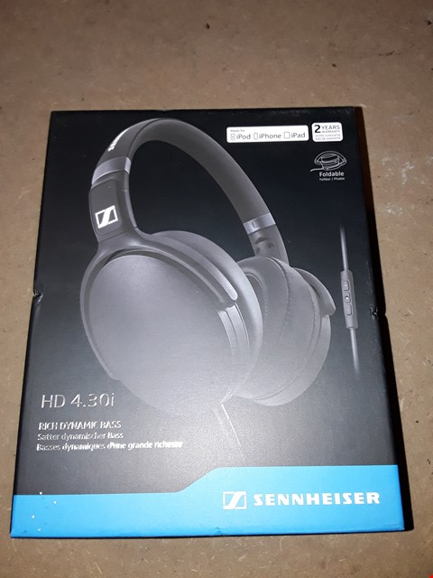 Lot 312 BOXED SENNHEISER HD 4.30I RICH DYNAMIC BASS HEADPHONES
