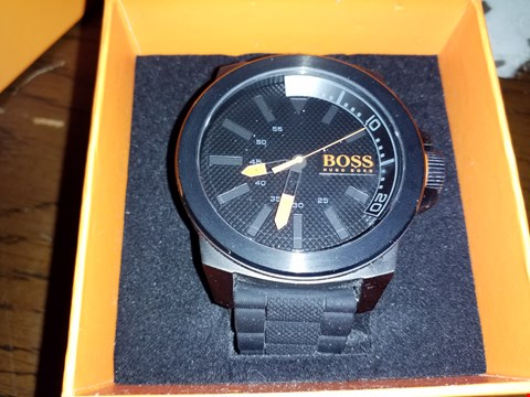 Lot 9255 NEW HUGO BOSS BLACK DIAL WATCH  RRP £209.00