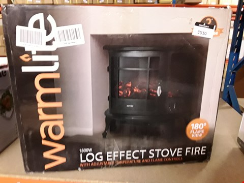 Lot 3030 WARMLITE 1800W LOG EFFECT STOVE FIRE