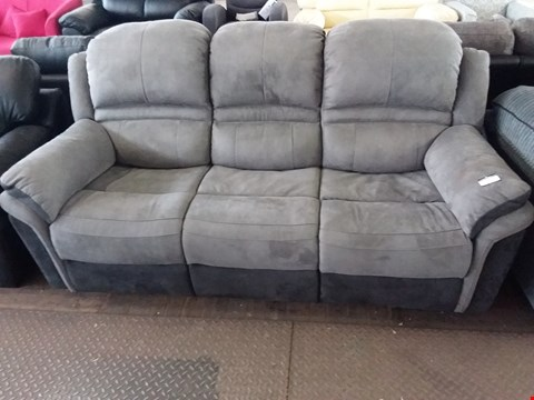 Lot 77 DESIGNER BEIGE FABRIC 3 SEATER SOFA