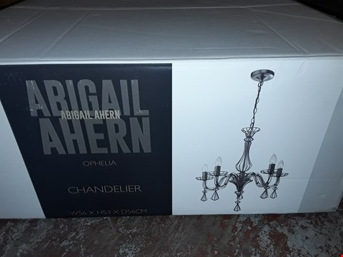 Lot 403 BOXED OPHELIA ANTIQUE NICKEL CHANDELIER
