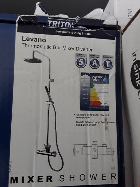 Lot 89 BOXED TRITON LEVANO THERMOSTATIC BAR MIXER DIVERTER SHOWER  RRP £140