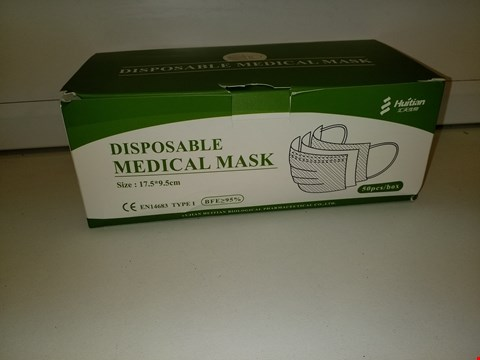 Lot 9251 REGATTA TYPE 1 DISPOSABLE MEDICAL FACE MASK - PACK OF 50 RRP £47.99
