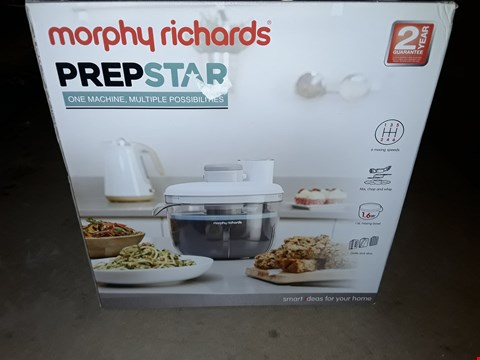 Lot 378 MORPHY RICHARDS PREPSTAR FOOD PROCESSOR FOR INNOVATIVE MEAL PREP WITH ALL IN ONE EASY STORAGE SOLUTION, 350 W, WHITE