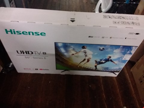 "Lot 3687 HISENSE 50"" SERIES 6 4K TV"