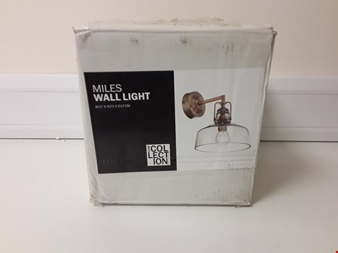 Lot 6042 BOXED MILES WALL LIGHT