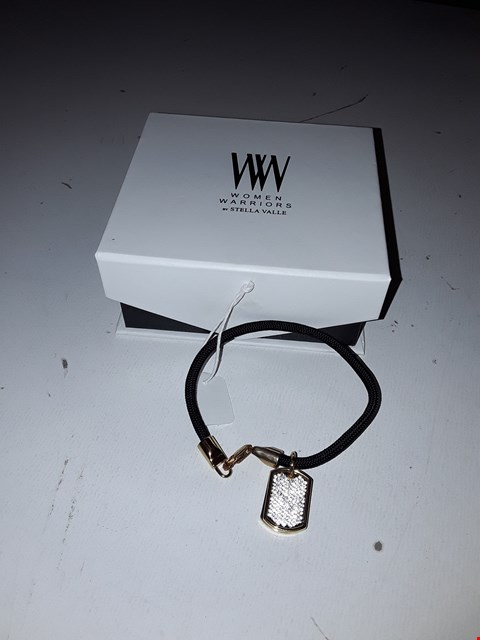Lot 1046 LOT OF 3 WOMEN WARRIORS DOG TAG BRACELETS BY STELLA VALLE
