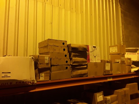 Lot 3086 SHELF OF APPROXIMATELY 25 BOXES OF ASSORTED CATERING & HOTEL WARE SUNDRIES