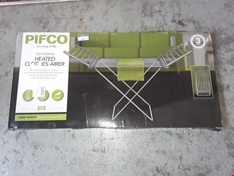 Lot 7148 BOXED PIFCO EXTENDING HEATED CLOTHES AIRER