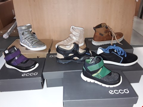 Lot 12805 LOT OF APPROXIMATELY 26 ASSORTED PAIRS OF SHOES TO INCLUDE  ECCO, HUMMEL