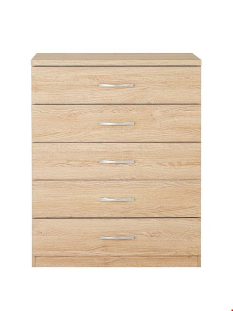 Lot 7008 BOXED CASHMERE PERU 5-DRAWER CHEST (1 BOX)  RRP £159.00