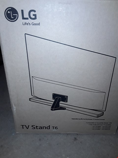 Lot 211 LOT OF 2 LG T6 TV STANDS