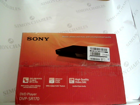Lot 5556 SONY DVP-SR170 DVD PLAYER  RRP £52.00