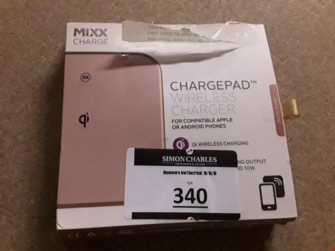 Lot 340 LOT OF APPROXIMATELY 13 MIXX CHARGE CHARGEPADS VARIOUS COLOURS