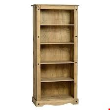 Lot 3070 BOXED DESIGNER RUSTIC PINE EFFECT BOOKCASE