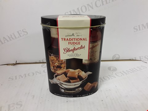 Lot 9139 GLENFARCLAS SINGLE MALT WHISKEY FUDGE TIN  RRP £15.99