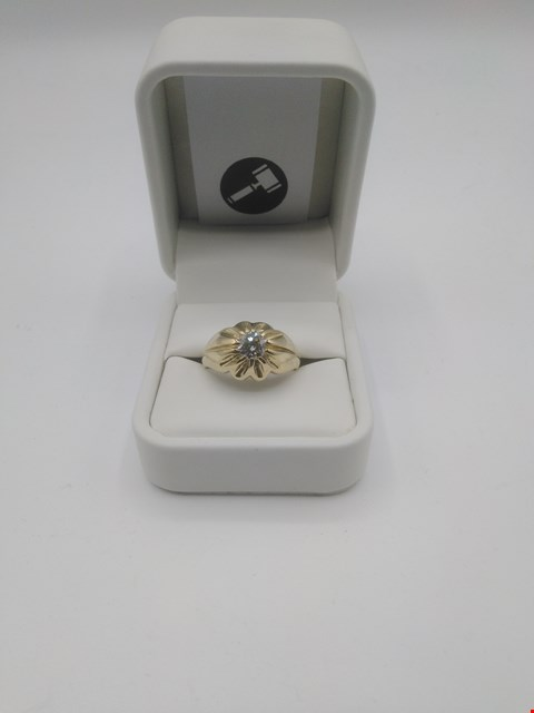Lot 1 18CT GOLD GENTS RING SET WITH A DIAMOND WEIGHING +0.91CT, GOLD WEIGHT +10.34GRAMS  RRP £3750.00