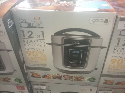 Lot 188 BOXED PRESSURE KING PRO 5L 12-IN-1 DIGITAL PRESSURE COOKER RRP £69.99