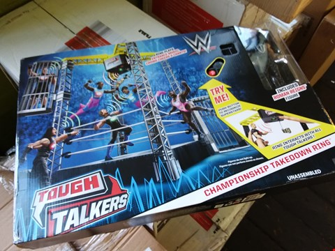 Lot 2518 BOXED GRADE 1 WWE TOUGH TALKERS TAKE DOWN RING AND FIGURES RRP £83