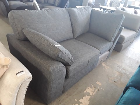 Lot 72 QUALITY BRITISH DESIGNER CHARCOAL WEAVE SOFA SECTION