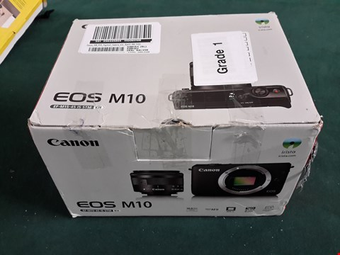 Lot 1077 GRADE 1 BOXED CANON EOS M10 DIGITAL CAMERA KIT WITH 15-45MM LENS RRP £450